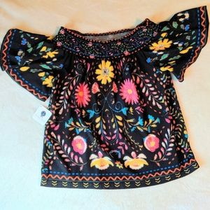 NWT Floral Off the Shoulder Blouse